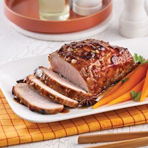 Rôti de porc caramélisé à l'asiatique