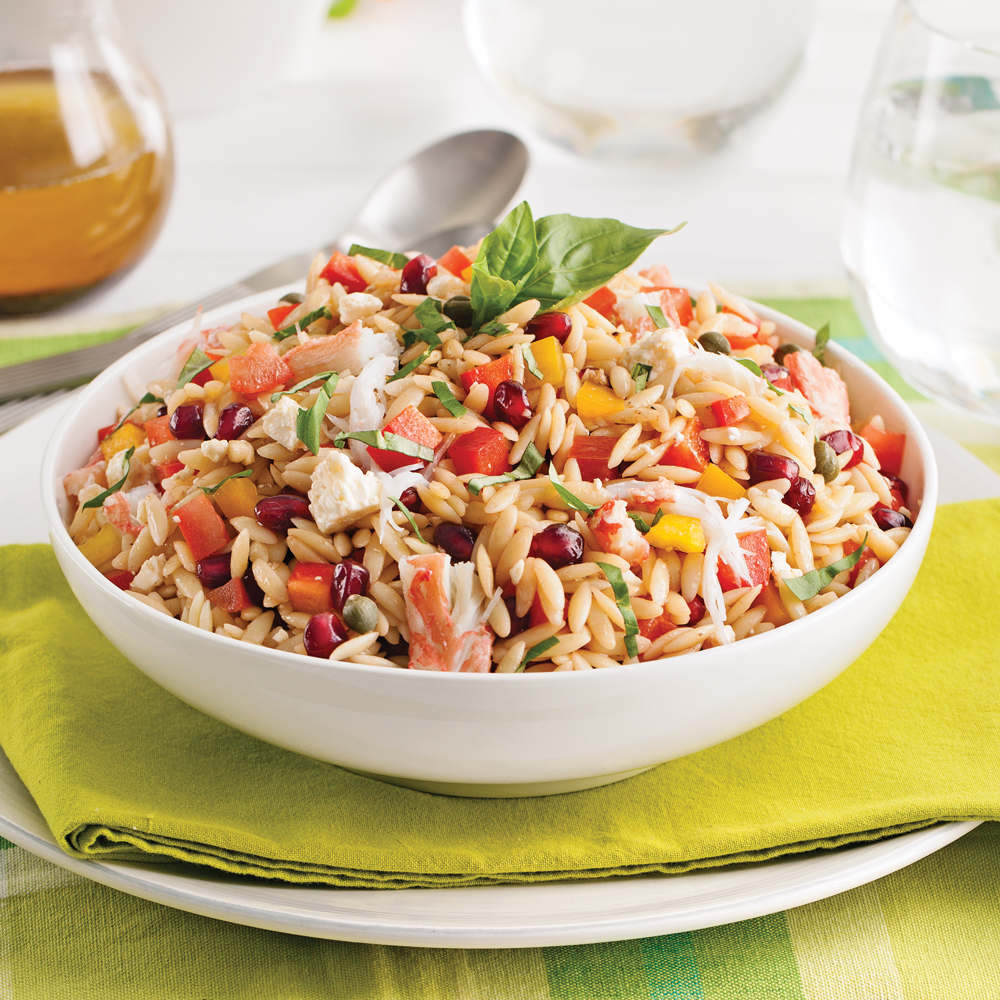 Salade d'orzo au crabe