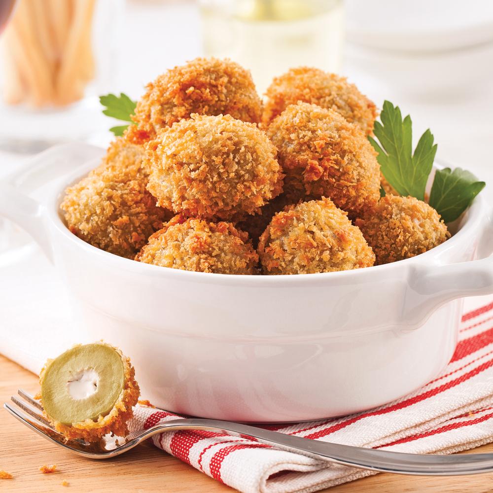 Olives frites farcies au bleu