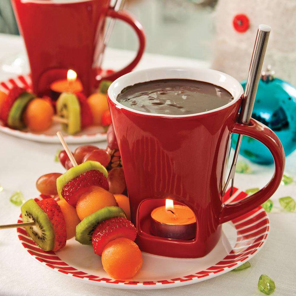 Fondue au chocolat et à l'orange
