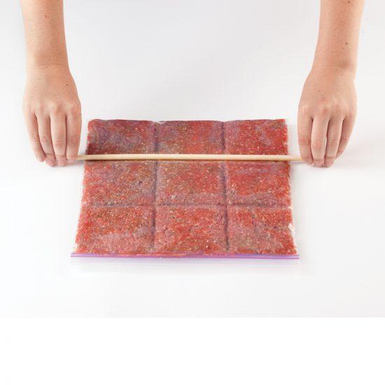Viande hachée: comment congeler en portions?