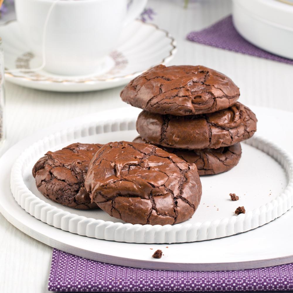 Biscuits chocolat-lavande