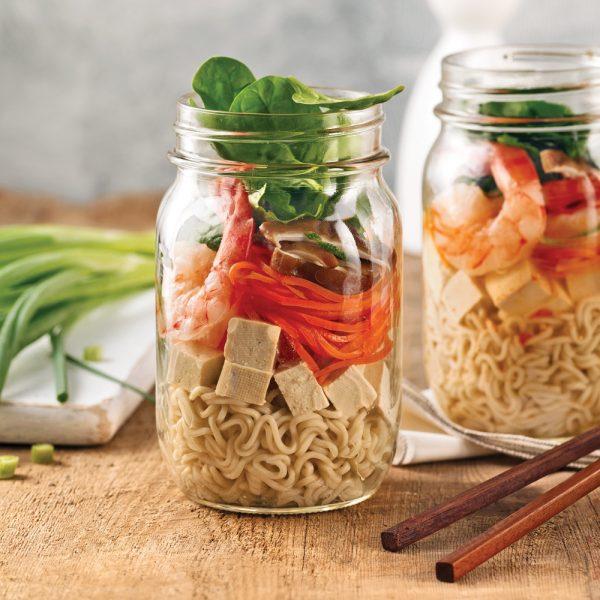 Soupe thaï en pot