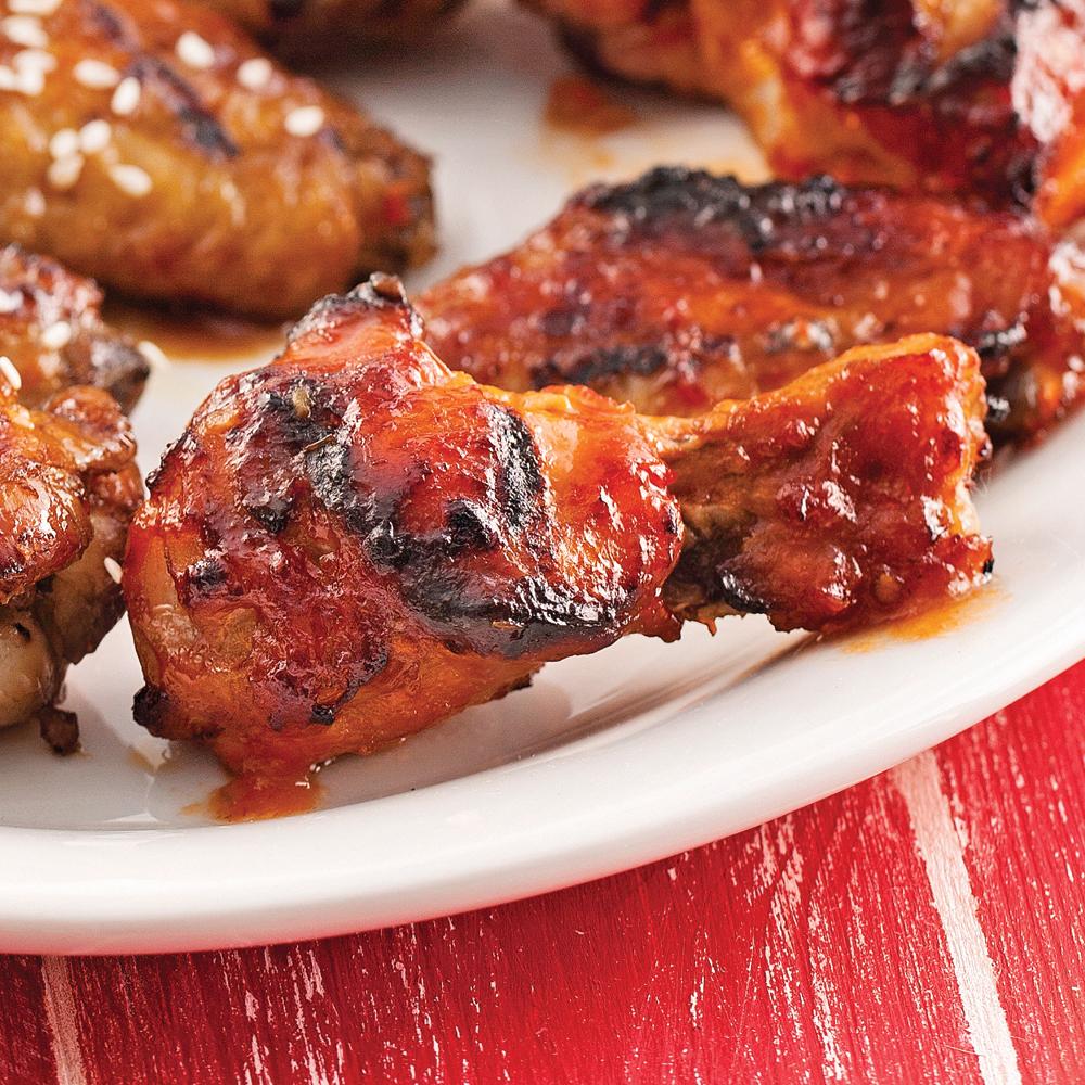 Ailes de poulet, sauce barbecue à la bière