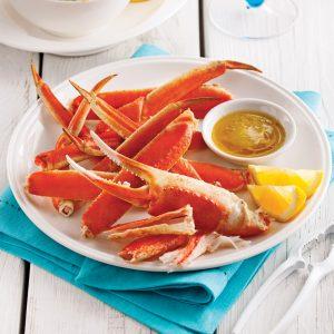 Assiette de crabe des neiges