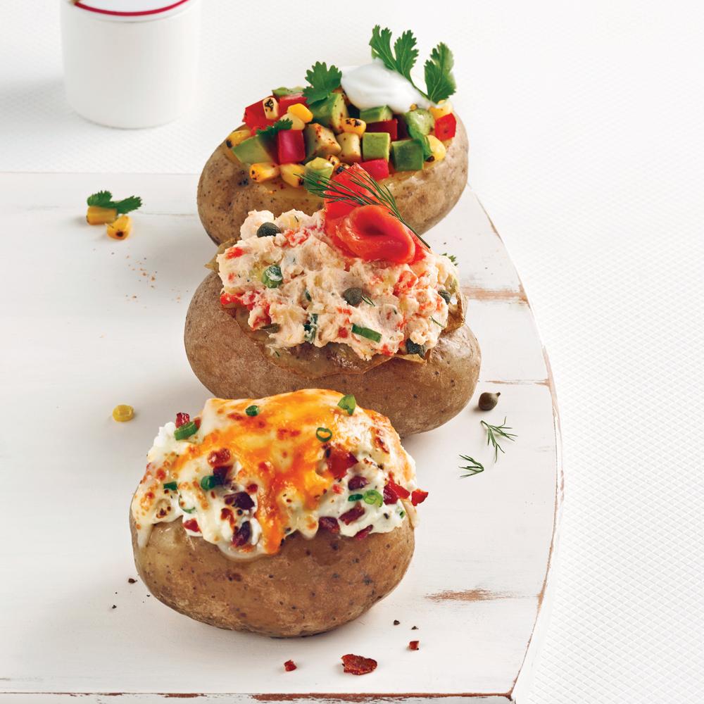 Trio de patates farcies