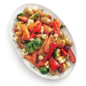 Papillote de légumes et fromage en grains
