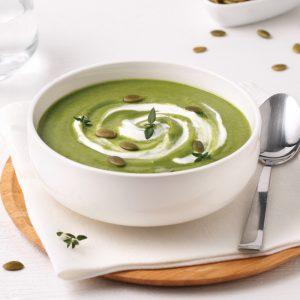 Soupe-repas aux haricots blancs et épinards