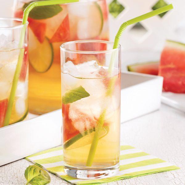 Thé glacé au melon d'eau
