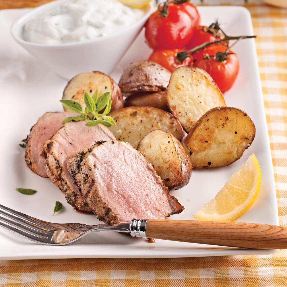 Filet de porc à la grecque