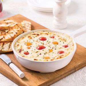 Trempette au fromage de chèvre et tomates cerises