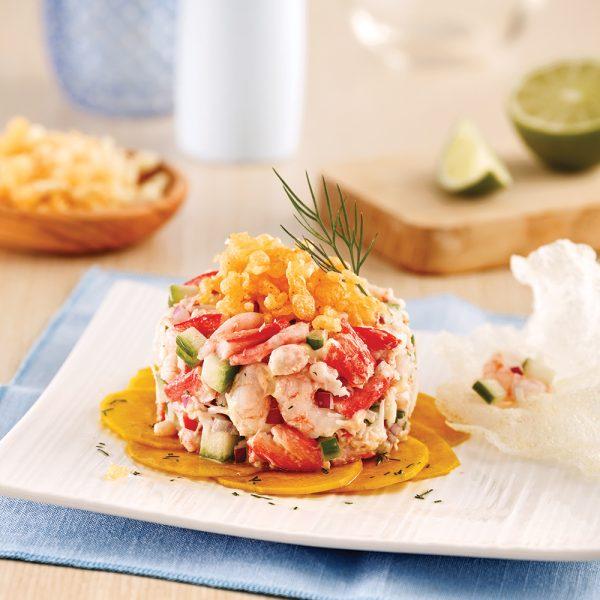 Tartare de crabe et crevettes nordiques