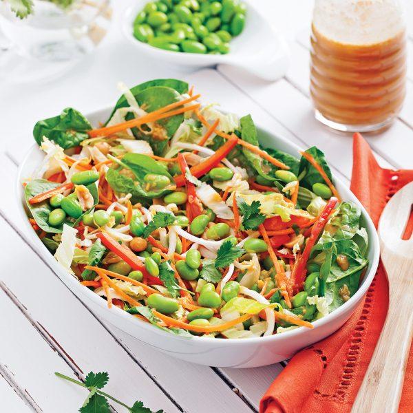 Salade d'edamames et arachides à l'asiatique
