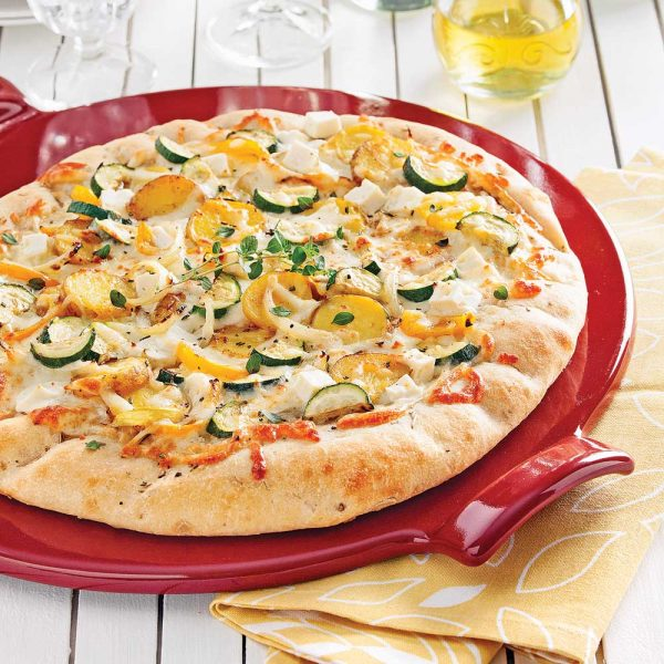Pizza jardinière aux deux fromages