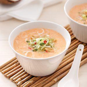 Soupe thaï au lait de coco