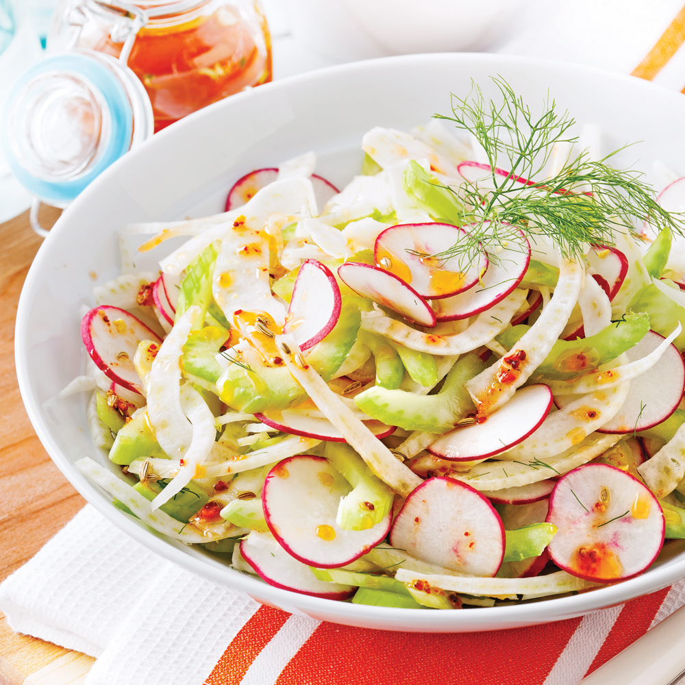 Salade rafraîchissante au fenouil et radis