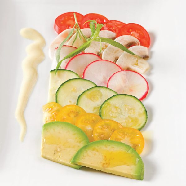 Carpaccio de légumes à l'estragon