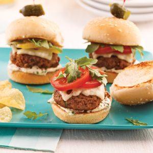 Mini-burgers boeuf et veau