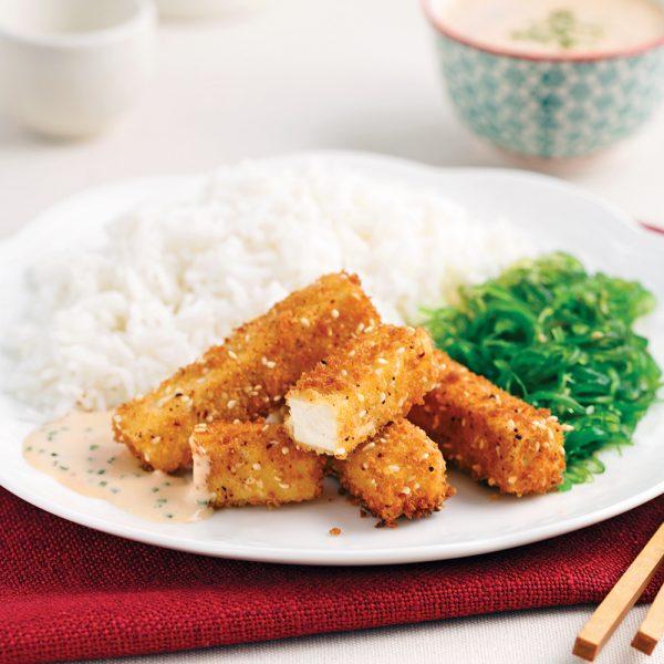Bâtonnets de tofu croustillants