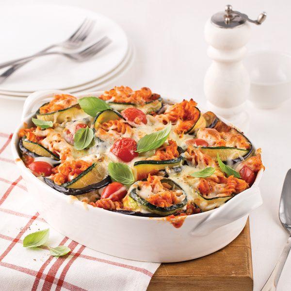 Rouleaux d'aubergine et de courgettes aux pâtes