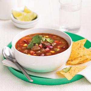 Soupe mexicaine au boeuf pour sacs à congeler