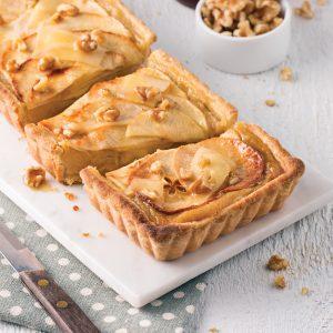 Tarte aux pommes, fromage et érable