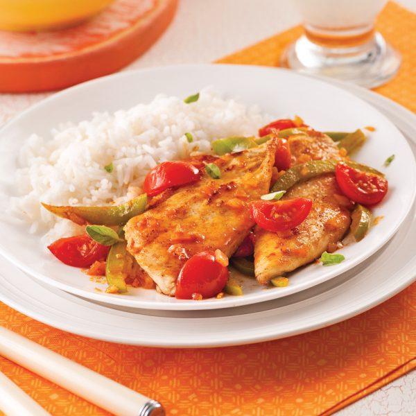 Escalopes de poulet à la portugaise