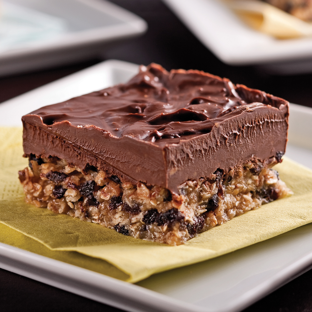 Carrés au chocolat et beurre d'arachide