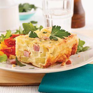Quiche jambon-fromage sans pâte
