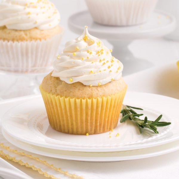 Cupcakes romarin-citron