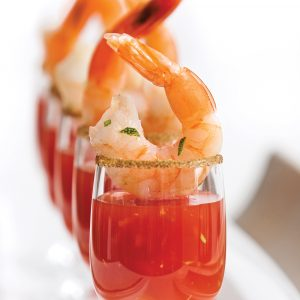 Crevettes cocktail Bloody Ceasar