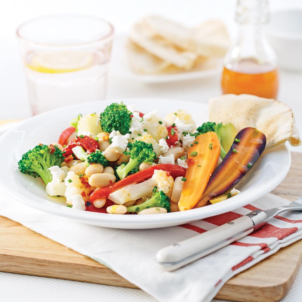 Salade de haricots blancs à l'indienne