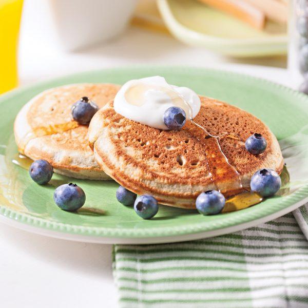 Pancakes au sarrasin et au blé