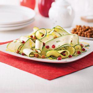 Salade de rubans de courgettes