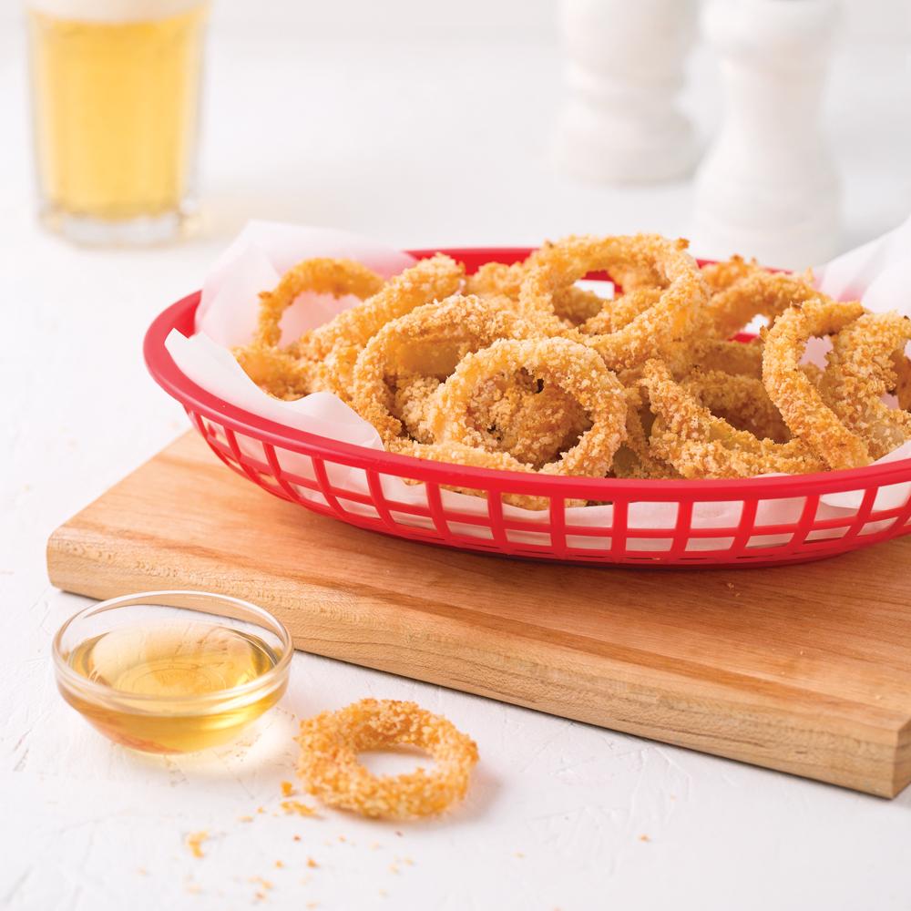 Rondelles d'oignons sans friture