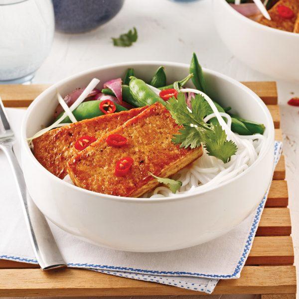 Tranches de tofu croustillantes