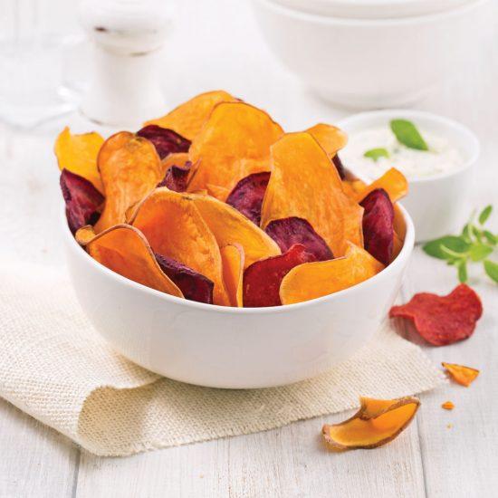 Chips de patates douces et betteraves