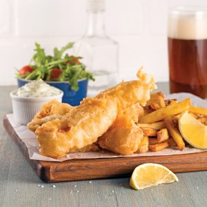 Fish'n chips de saumon