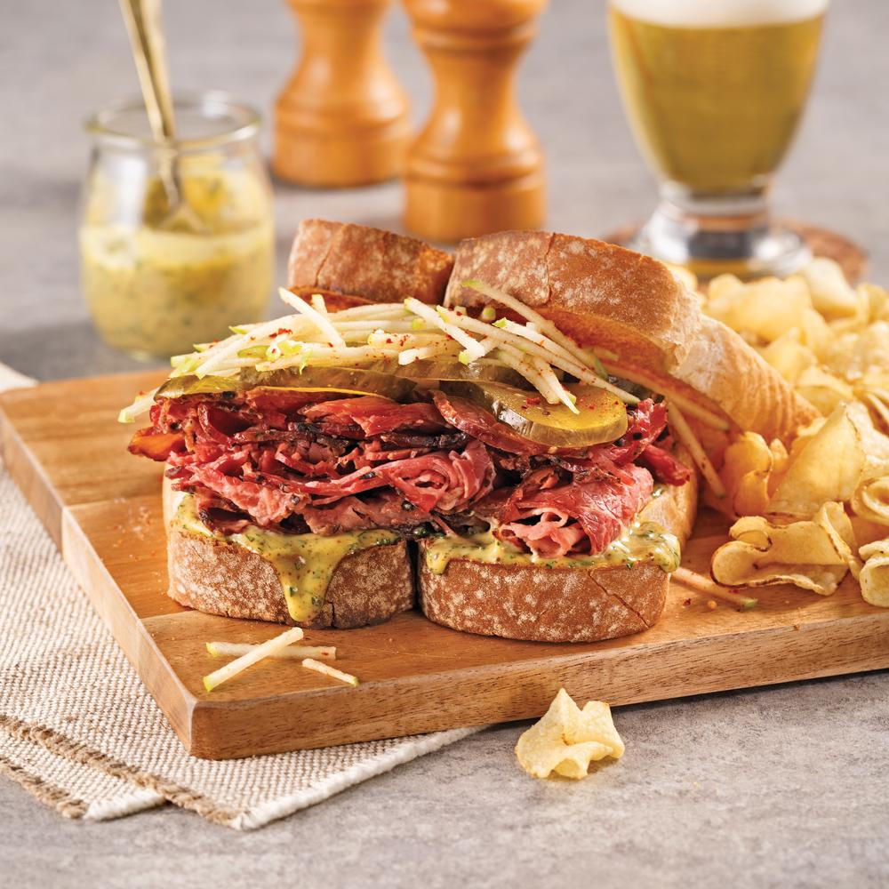 Sandwich au smoked meat