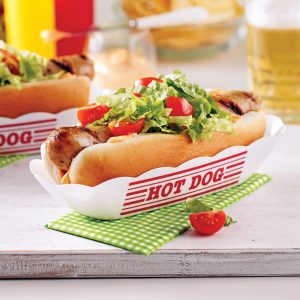 Hot-dogs à la saucisse braisée dans la bière