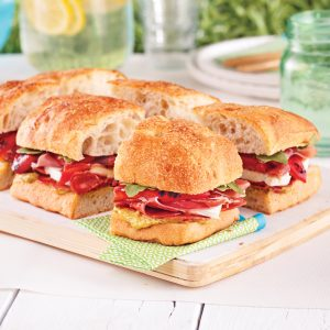 Sandwichs focaccia à l'italienne
