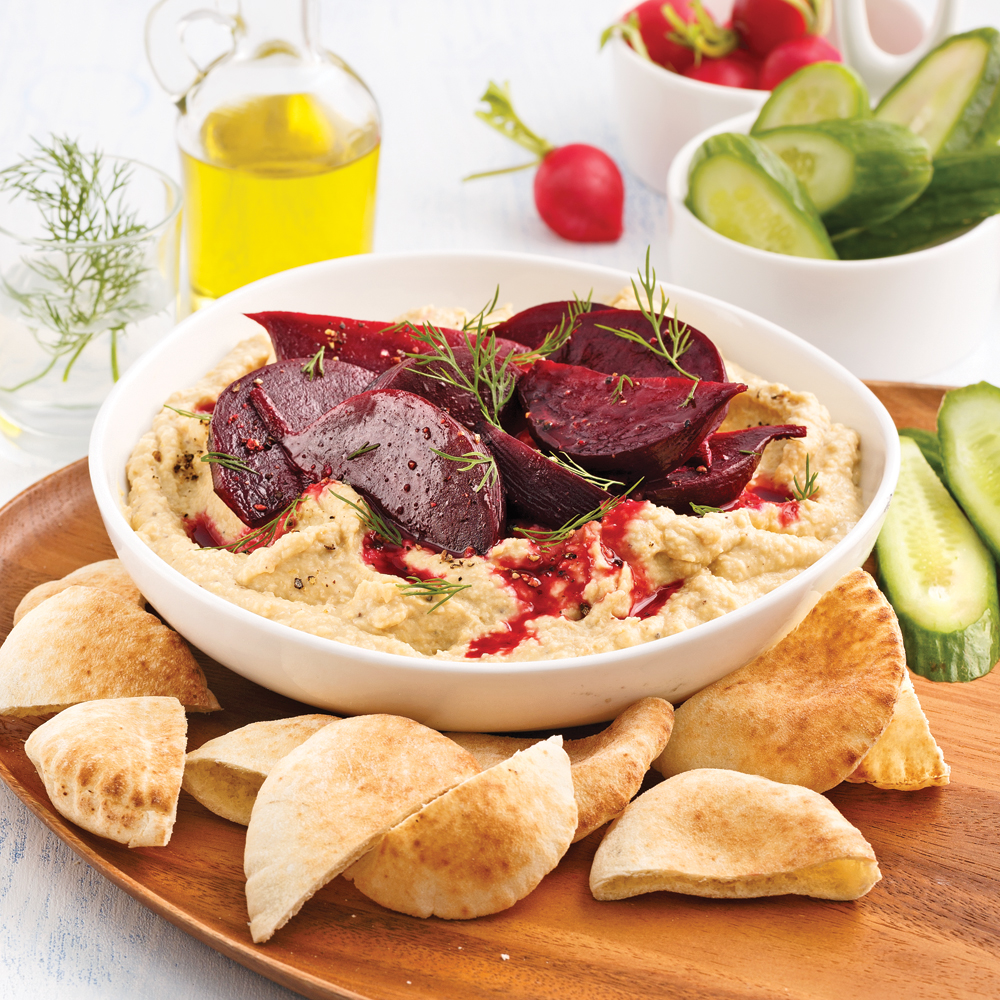 Houmous aux betteraves rôties