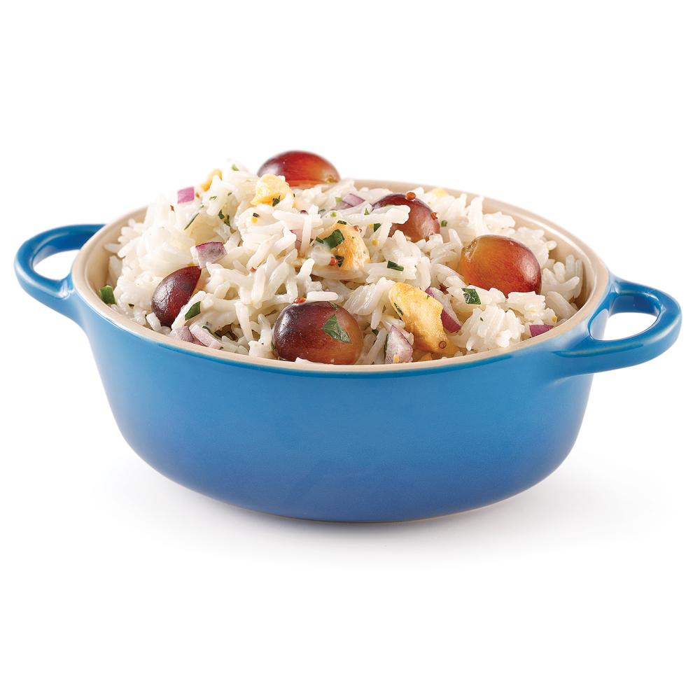 Salade de riz, pommes et raisins