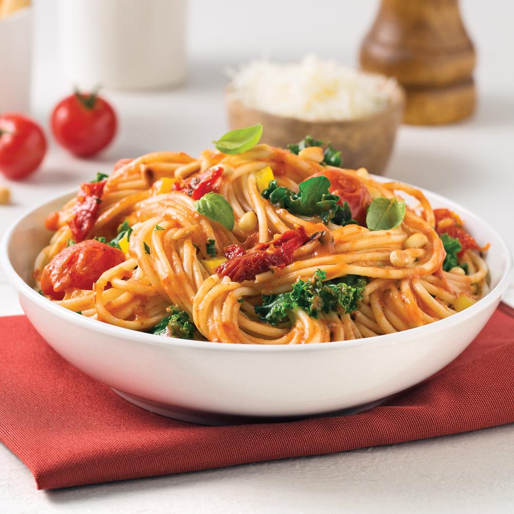 One pot pasta au blé entier et aux légumes