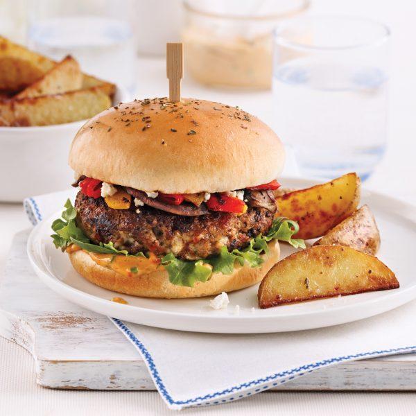 Burger de veau à la méditerranéenne