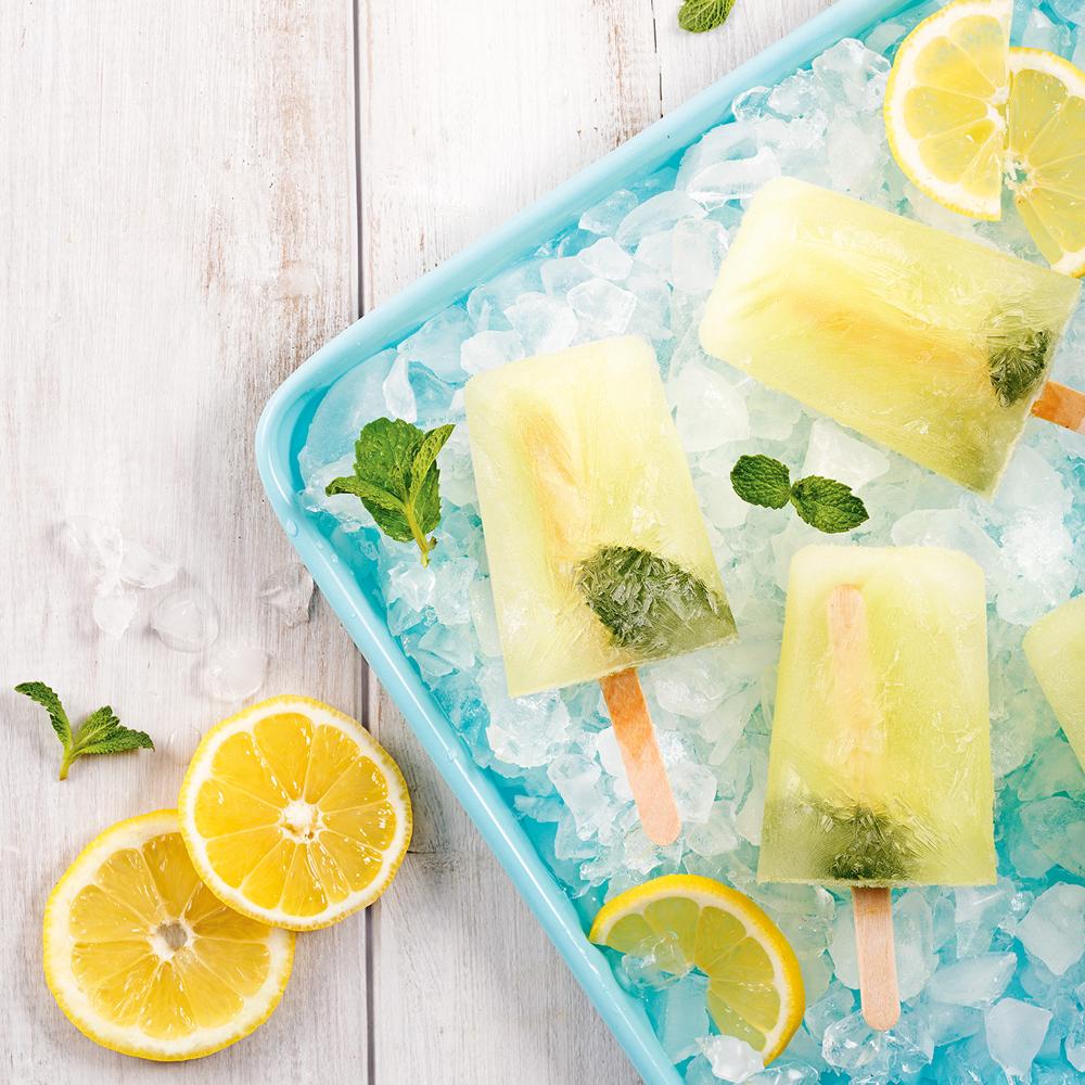 Pops alcoolisés citron-menthe