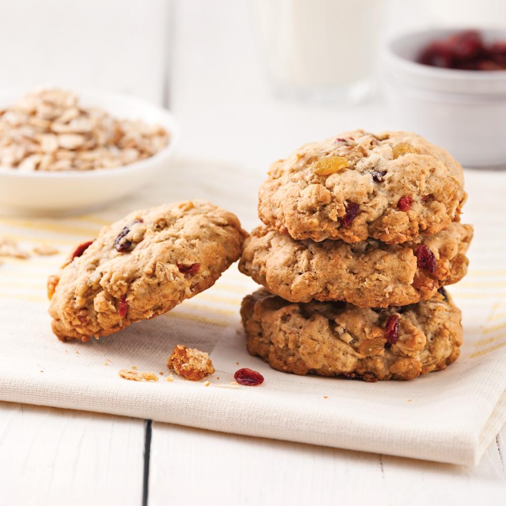 Biscuits santé aux raisins secs et canneberges séchées