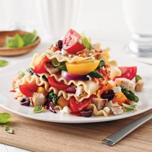 Lasagne au poulet et tomates