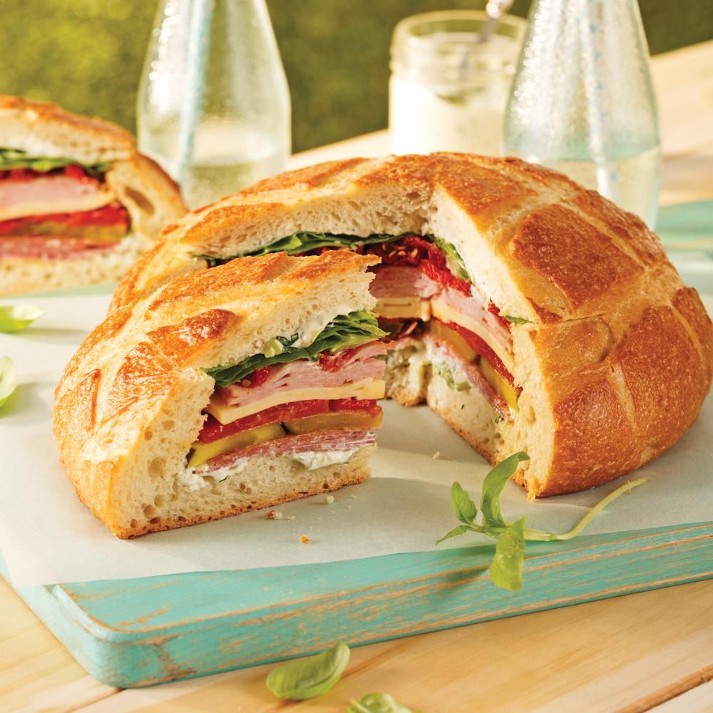Miche de pain sandwich