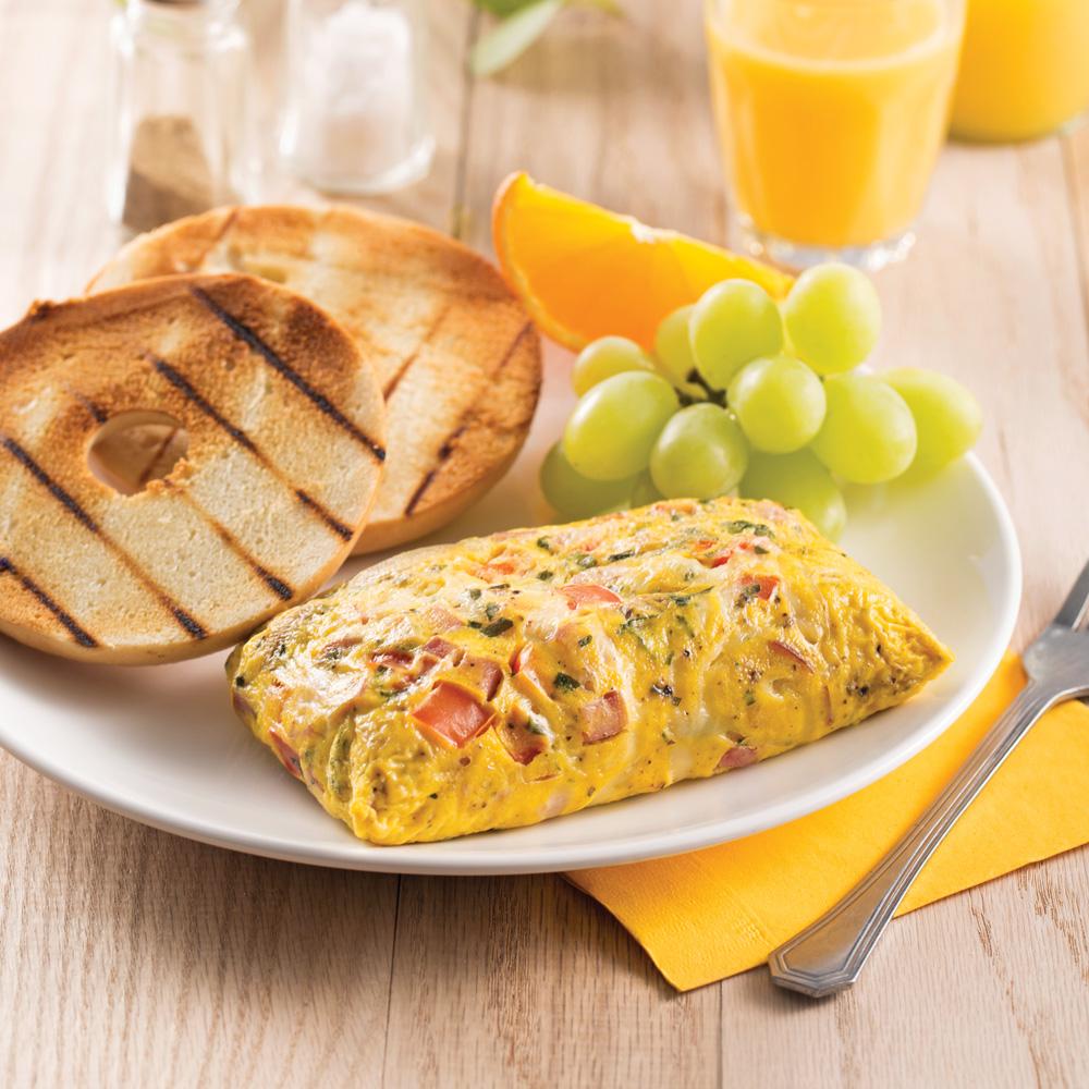 Omelette dans un sac